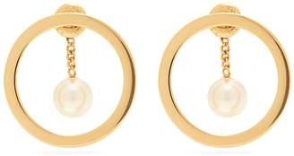 Chloé Gold-tone hoop and pearlised drop earrings