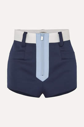 Miu Miu Color-block Neoprene Shorts - Navy