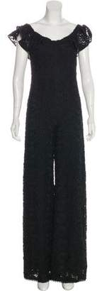 Alexis Embroidered Off-The-Shoulder Jumpsuit w/ Tags