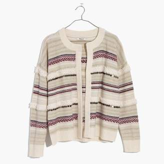 Madewell Paillette-Stripe Cardigan Sweater