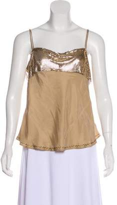 Elizabeth and James Silk Embellished Top