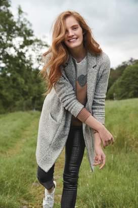 Next Womens Grey Revere Coatigan - Grey