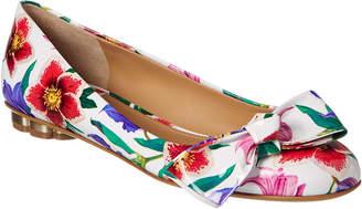 Salvatore Ferragamo Vola Flower Heel Patent Ballet Flat