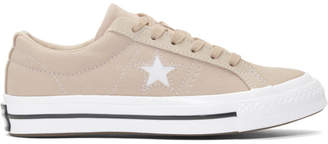 Converse Pink Suede and Canvas One Star Sneakers