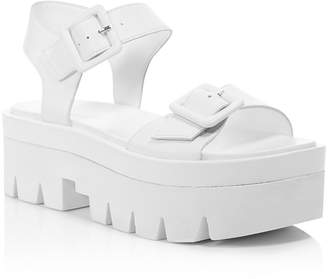 KENDALL + KYLIE Women's Wave Leather Platform Ankle Strap Sandals - 100% Exclusive