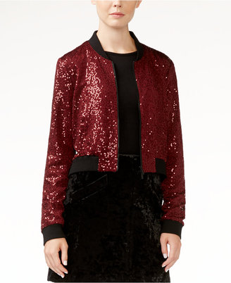 RACHEL Rachel Roy Sequined Bomber Jacket, Only at Macy's $169 thestylecure.com