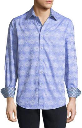 Robert Graham Men's Ector Floral Woven Sport Shirt