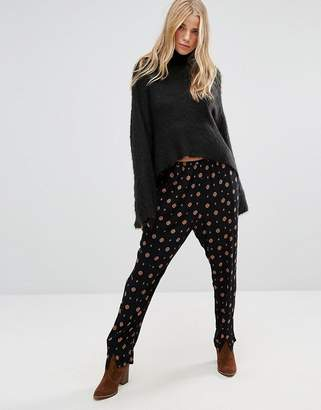 Free People Shirt Up Printed Trousers