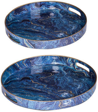 A&B Home Ab Home Modern Chic Trays, Set of 2