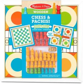 Melissa & Doug Skill Builders Wooden Chess Pachisi