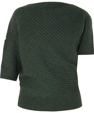 J.W.Anderson Infinity Ribbed Merino Wool Sweater - Emerald