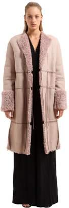 Alexander McQueen Patchwork Shearling Coat