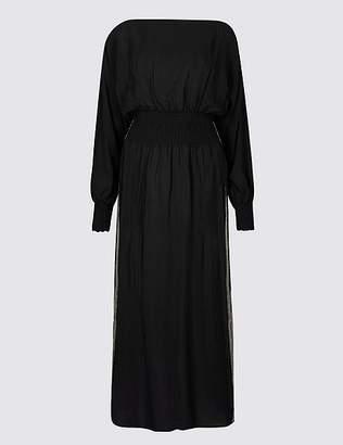 Marks and Spencer Long Sleeve Tea Midi Dress
