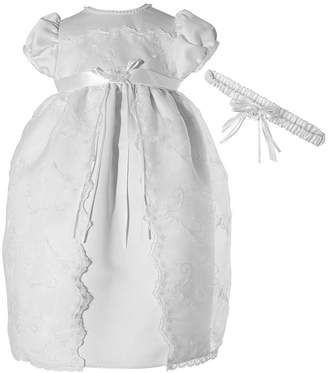 Keepsake Christening Short Sleeve Cap Sleeve Babydoll Dress - Baby Girls