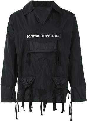 Kokon To Zai embroidered gathered pocket jacket