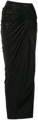 Alexandre Vauthier draped thigh slit skirt