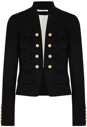 Veronica Beard Band Embroidered Jersey Jacket - Black