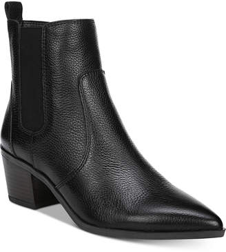 Franco Sarto Sienne Pointed-Toe Block-Heel Booties Women Shoes