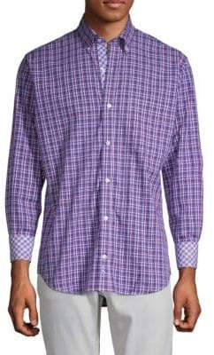 Tailorbyrd Tal Plaid Button-Down Shirt
