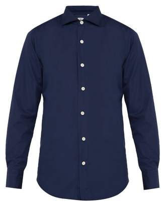Finamore 1925 - Seattle Cotton Poplin Shirt - Mens - Navy