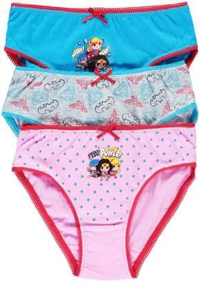Jellifish Little Girl's DC Super Friends 3-Pack Cotton Jersey Bikini Panties