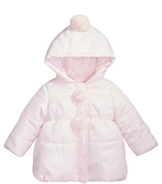 First Impressions Baby Girls Pom-Poms Hooded Jacket