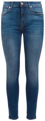 7 For All Mankind Embellished Skinny Slim Illusion Jeans
