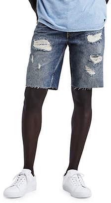 Levi's 512 Distressed Slim-Fit Cotton Shorts