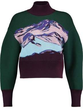 Emilio Pucci Jacquard-Knit Wool-Blend Turtleneck Sweater