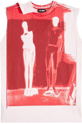 Raf Simons Printed Cotton Sleeveless Top