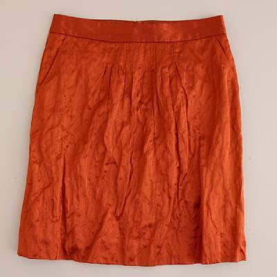 Hammered-metal skirt