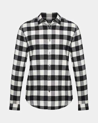 Theory Checked Cotton Standard-Fit Shirt