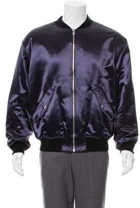 Alexander Wang Satin Bomber Jacket