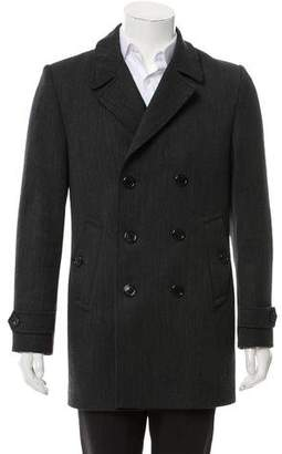 Burberry Notched-Lapel Wool Peacoat