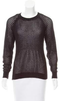 Isabel Marant Open-Knit Long Sleeve Top Black Open-Knit Long Sleeve Top
