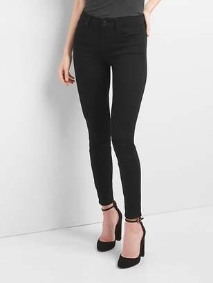Gap Mid Rise True Skinny Jeans in Everblack
