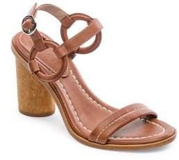 Bernardo Harlow Leather Ankle-Strap Sandals