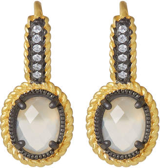 Freida Rothman Gilded Cable Leverback Earrings