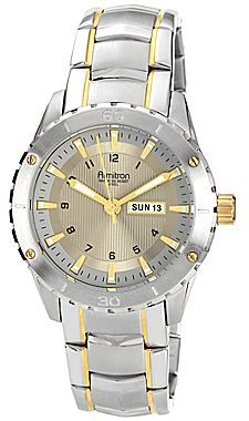 JCPenney Armitron® Mens Gray Dial Two-Tone Watch