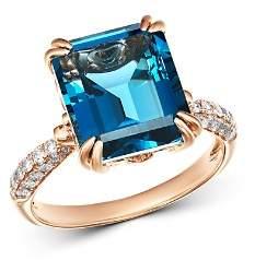 Bloomingdale's London Blue Topaz & Diamond Ring in 14K Rose Gold - 100% Exclusive