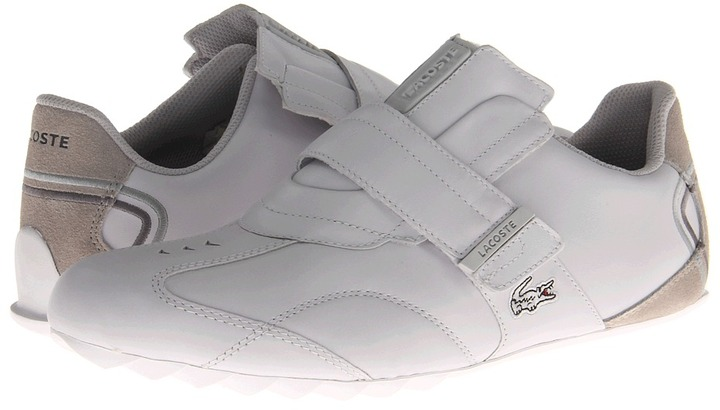 Lacoste Swerve AG (White/Light Grey) - Footwear