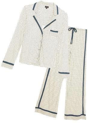 Cosabella Bella Printed Long Sleeve Top Pant Pajama Set