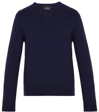 Allude V Neck Cashmere Sweater - Mens - Navy