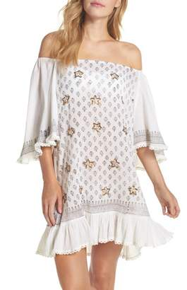 MUCHE ET MUCHETTE Dreamer Off the Shoulder Cover-Up Dress