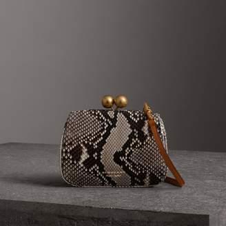 Burberry Small Python Frame Bag