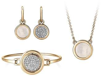 Buckley London Buckley London Gold Plated Eclipse Reversible Bangle, Earrings & Necklace Set With FREE Gift Bag