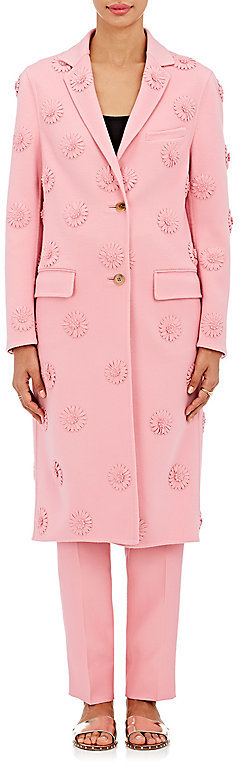 ValentinoValentino Women's Daisy-Appliquéd Wool-Cashmere Coat