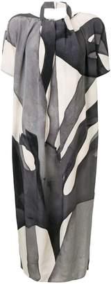 Max Mara abstract print midi dress