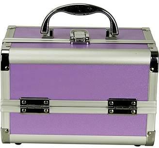 JustCase Giacinto Gallina Mini Makeup Cosmetic Train Case Organizer Storage with Mirror