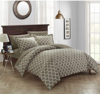 Chic Home Brooklyn 6 Pc Twin Bed In a Bag Duvet Set Bedding